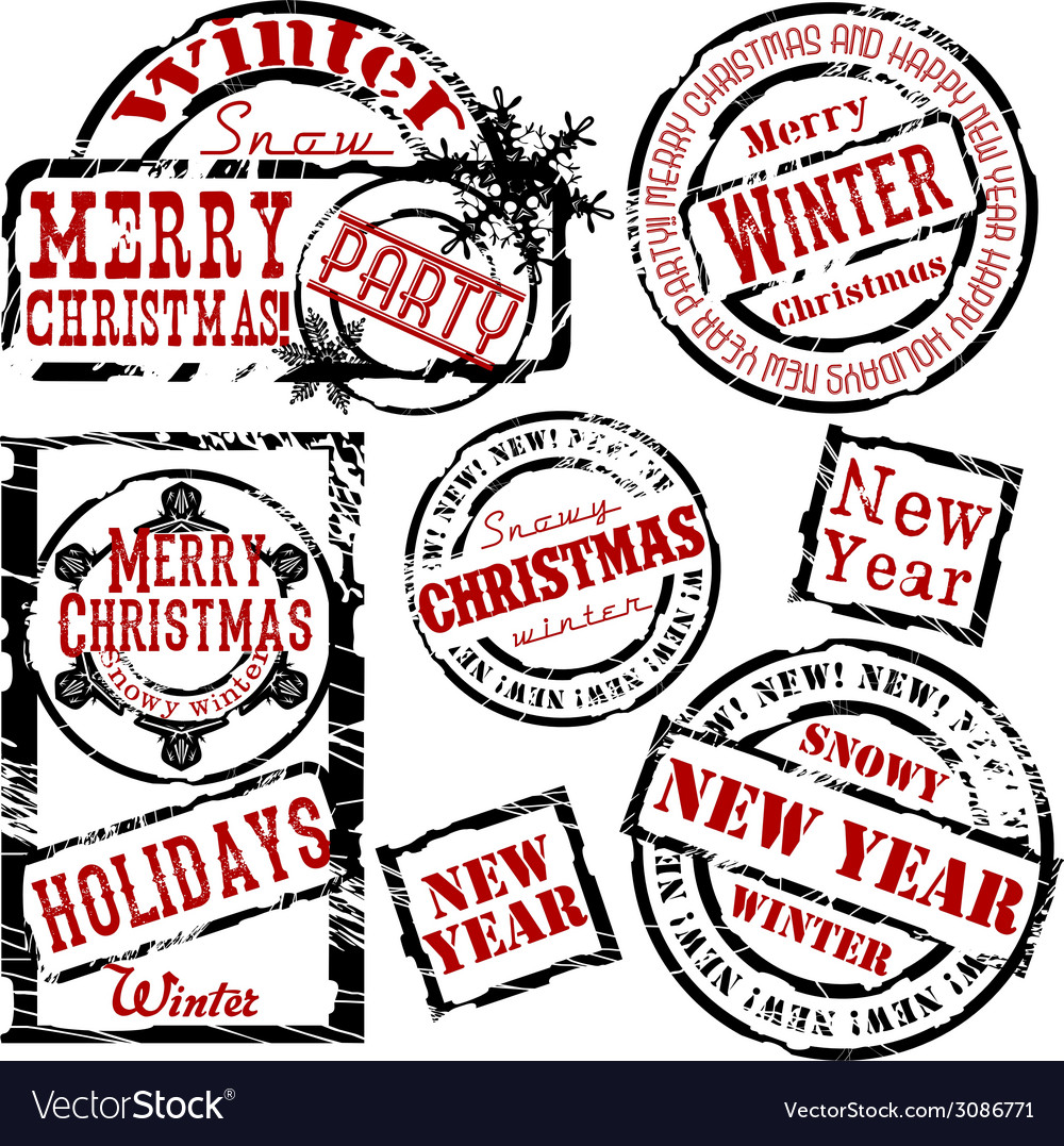 Christmas and new year design elements vector | Price: 1 Credit (USD $1)