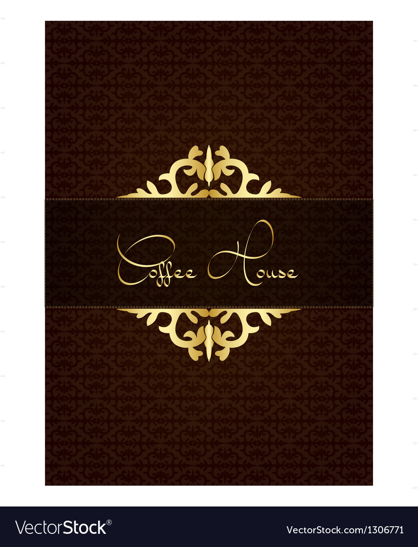Coffe house menu decorated with floral texture vector | Price: 1 Credit (USD $1)
