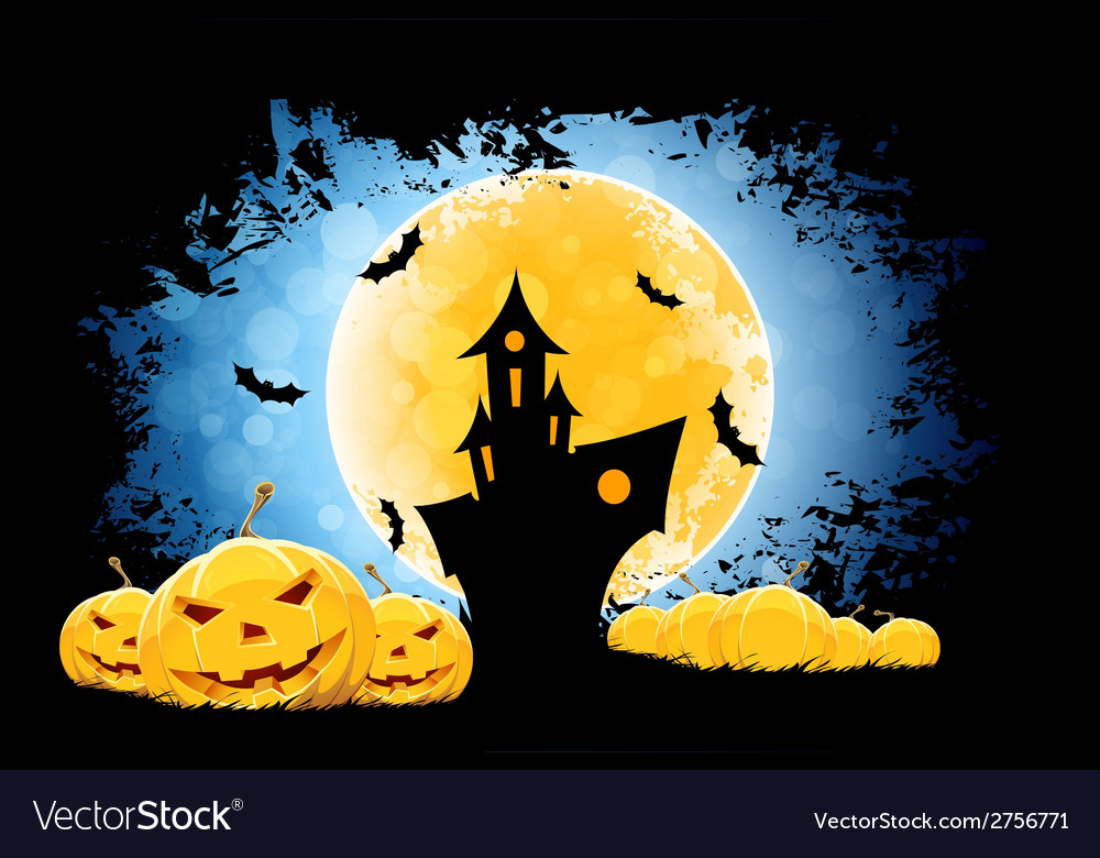 Grungy halloween background vector | Price: 1 Credit (USD $1)