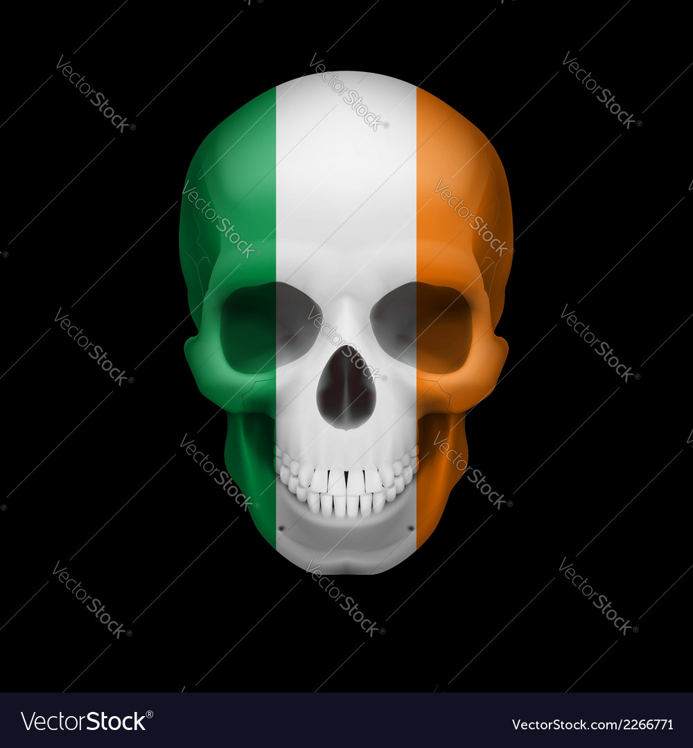 Irish flag skull vector | Price: 1 Credit (USD $1)