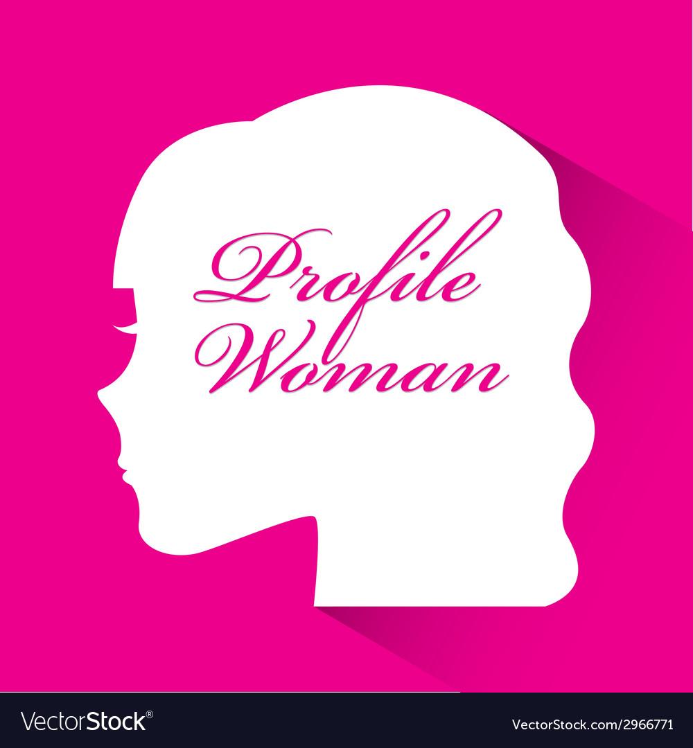Profile woman design vector | Price: 1 Credit (USD $1)