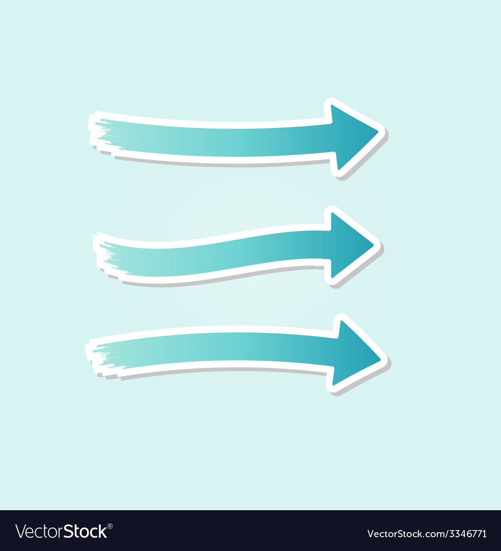Three different blue arrows vector | Price: 1 Credit (USD $1)
