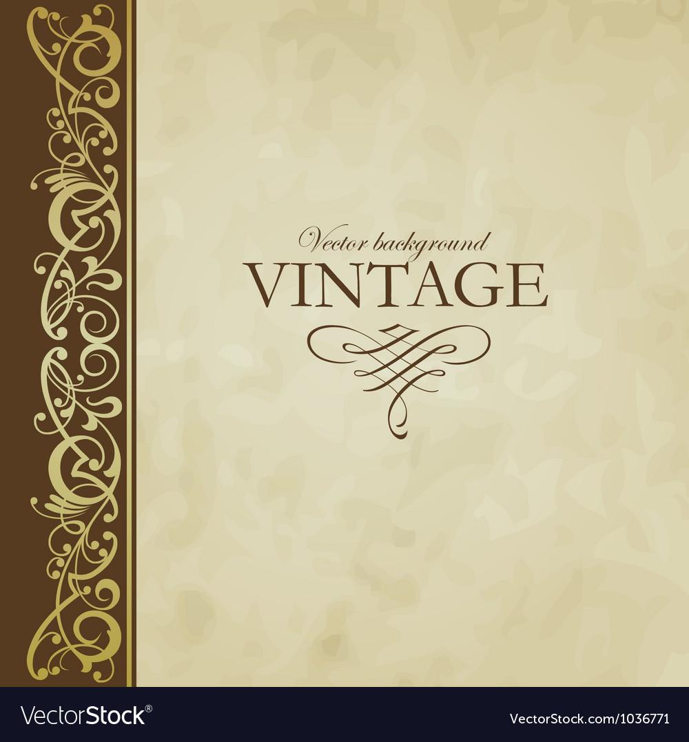 Vintage background vector | Price: 1 Credit (USD $1)
