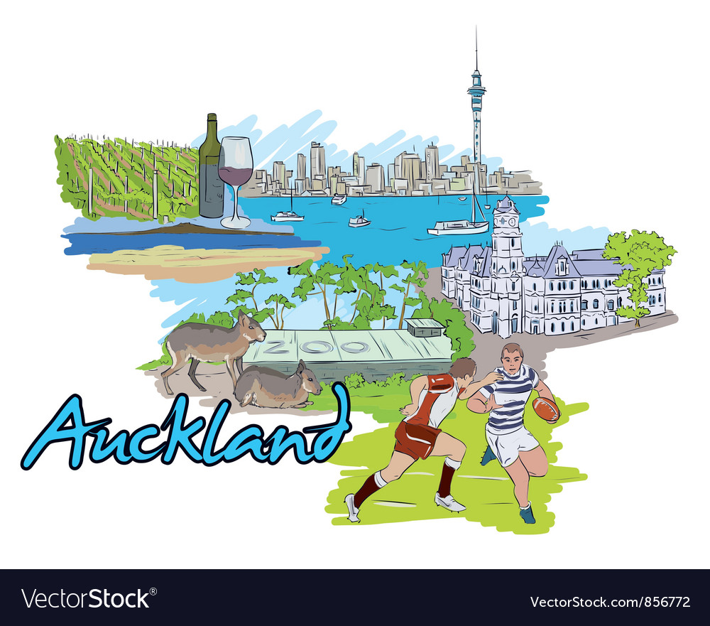 Auckland doodles vector | Price: 3 Credit (USD $3)