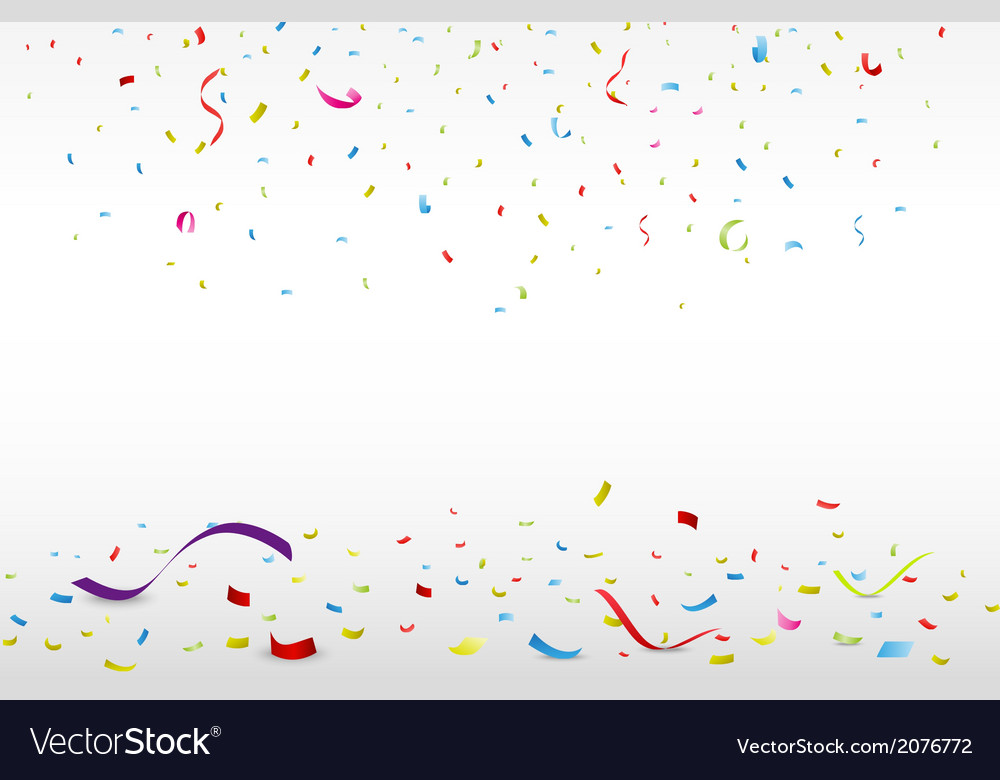 Celebration background with colorful confetti vector | Price: 1 Credit (USD $1)