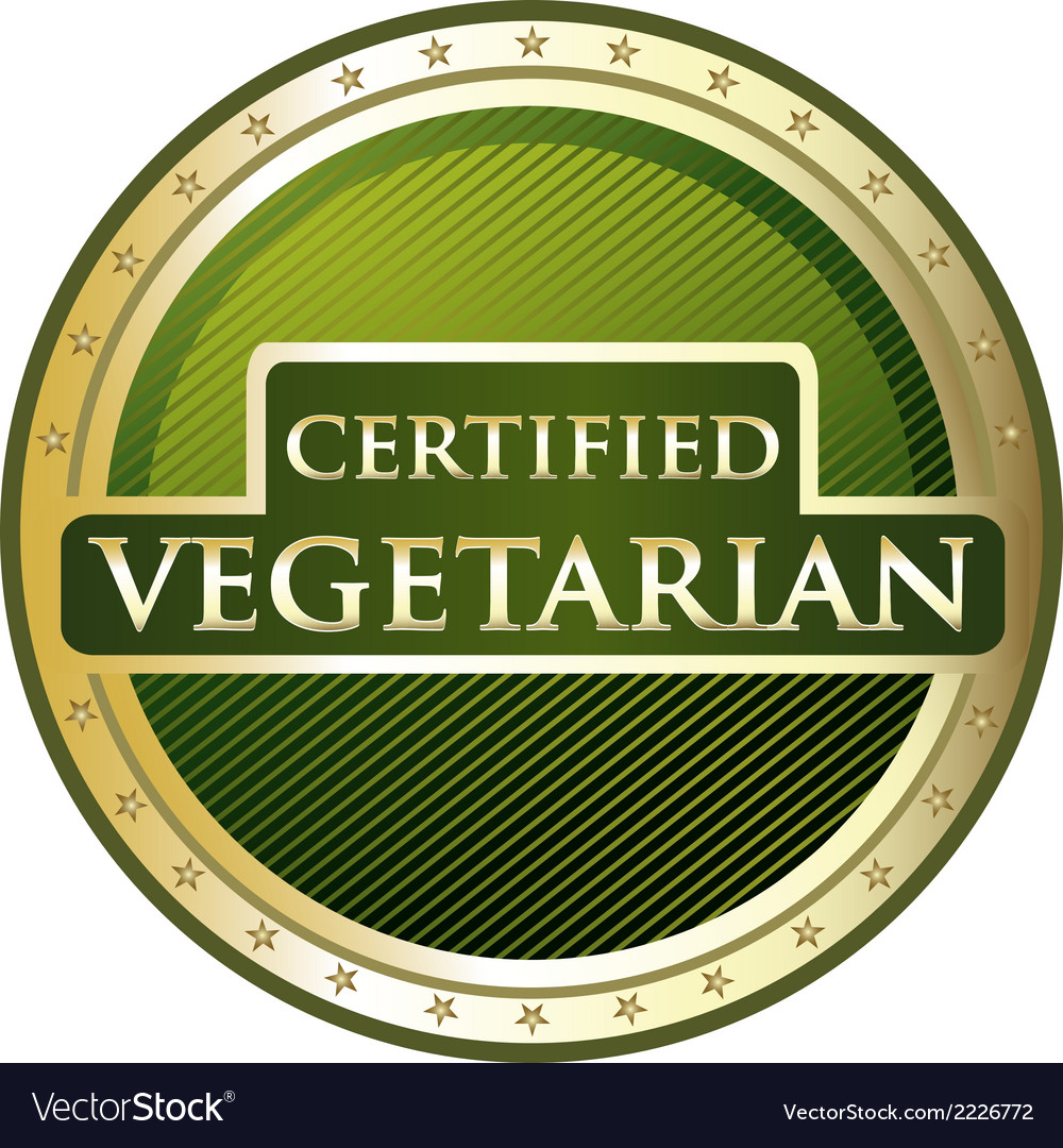 Certified vegetarian label vector | Price: 1 Credit (USD $1)