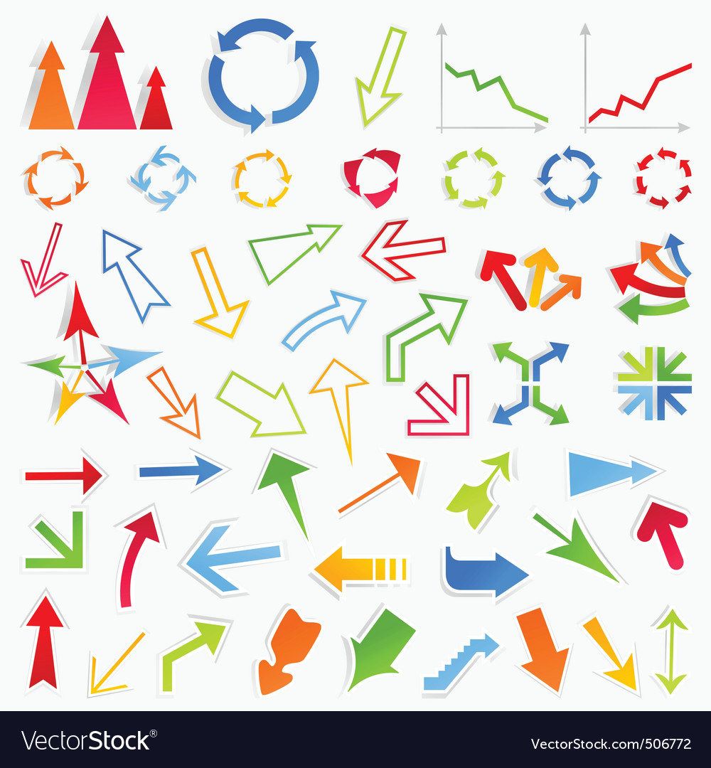 Collection of arrows6 vector | Price: 1 Credit (USD $1)