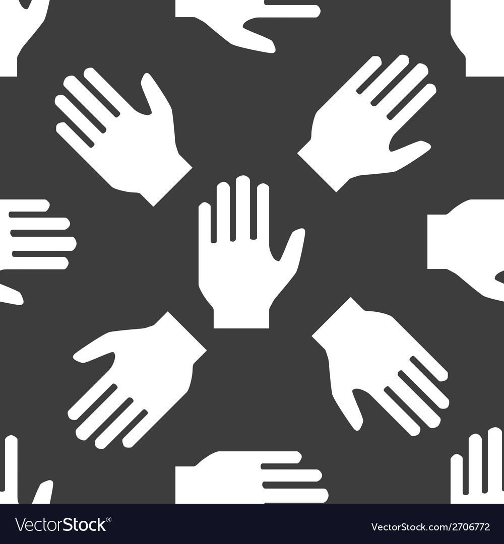 Hand web iconflat design seamless pattern vector | Price: 1 Credit (USD $1)