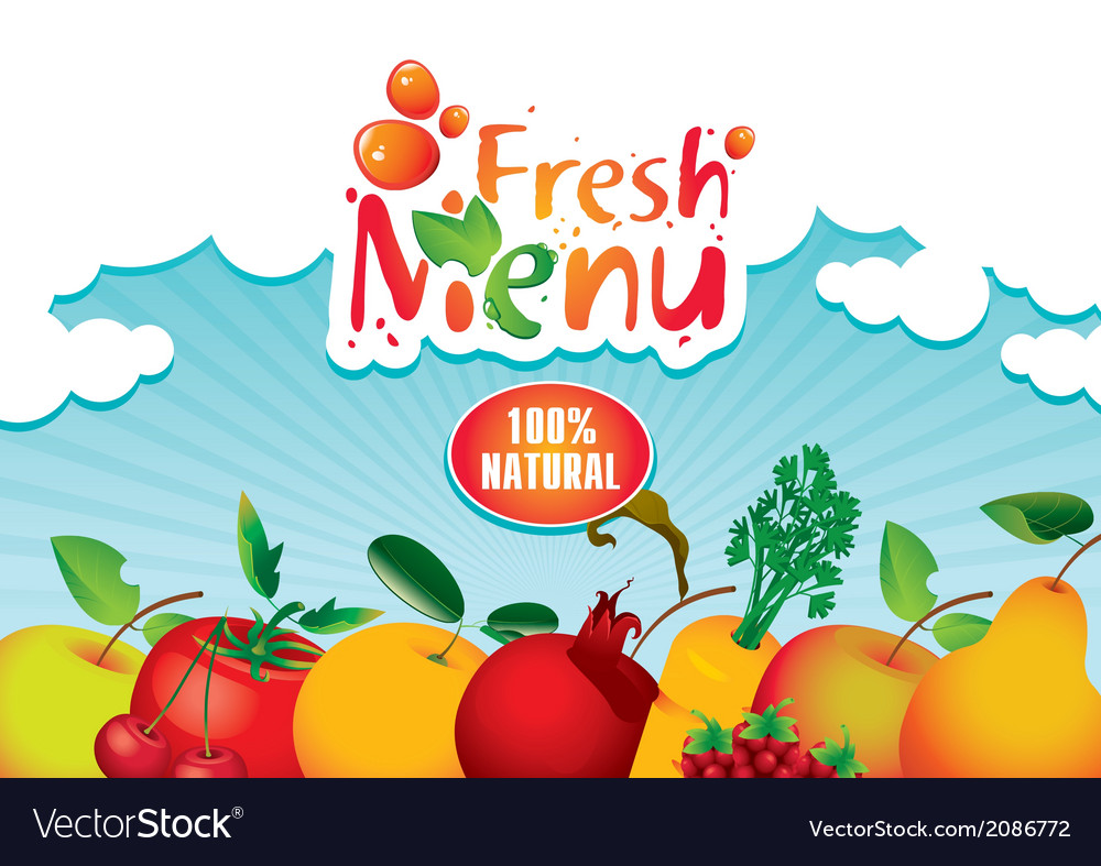 Juices and fresh vector | Price: 1 Credit (USD $1)