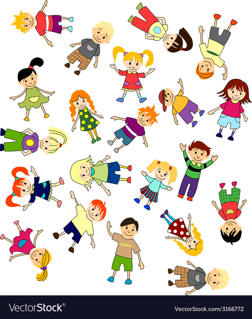 Jumping childrens vector | Price: 1 Credit (USD $1)