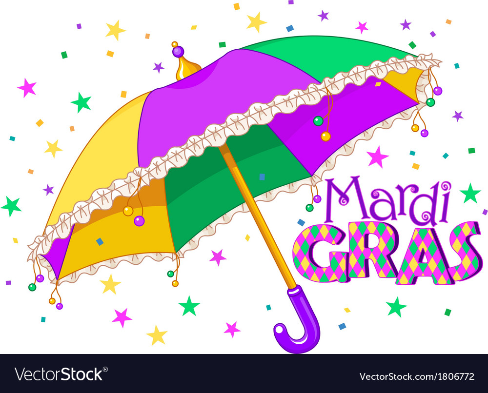 Mardi gras umbrella vector | Price: 1 Credit (USD $1)