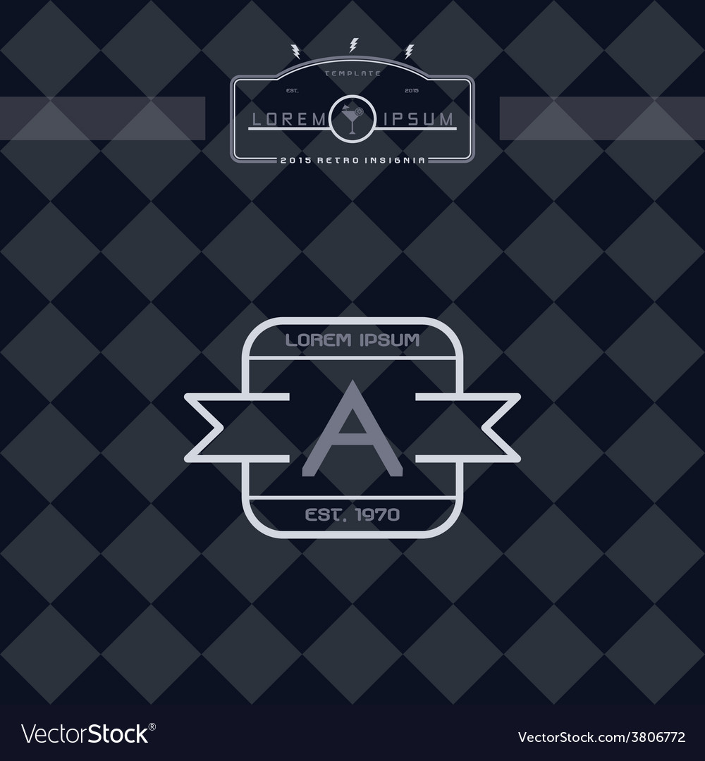Modern insignia vintage label vector | Price: 1 Credit (USD $1)
