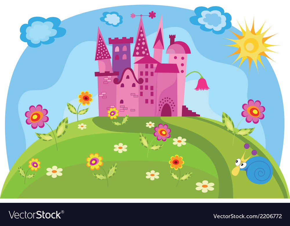 Princess castle vector | Price: 1 Credit (USD $1)