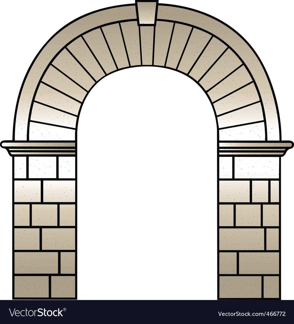 Roman archway vector | Price: 1 Credit (USD $1)