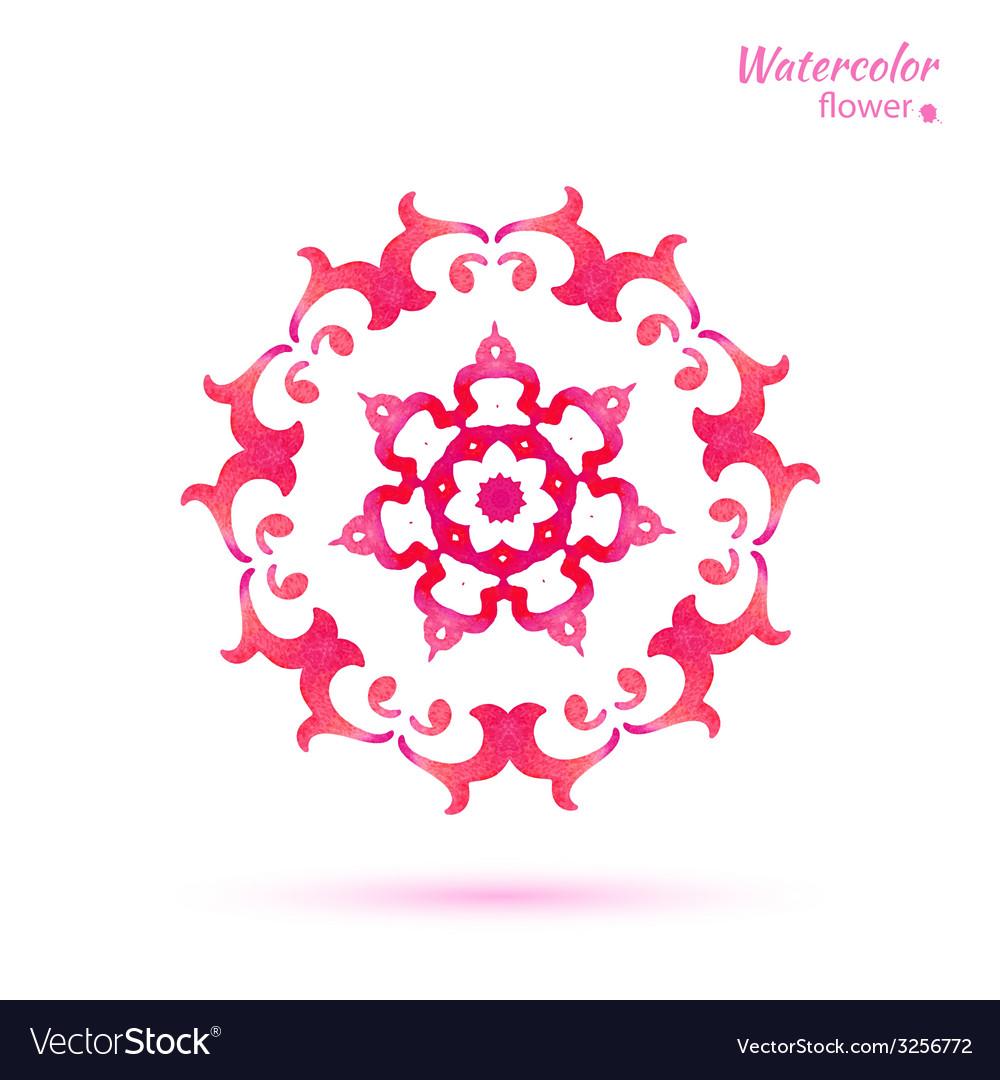 Snowflake flower folk style vector | Price: 1 Credit (USD $1)