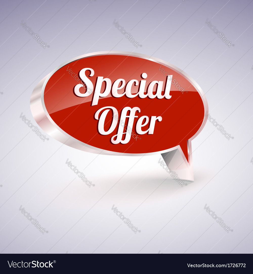 Special offer icon speech and thought bubbles vector | Price: 1 Credit (USD $1)