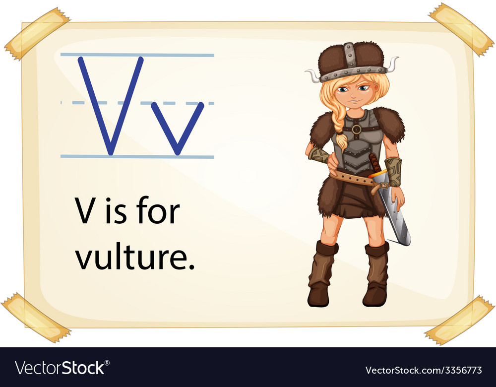 A letter v for vulture vector | Price: 3 Credit (USD $3)