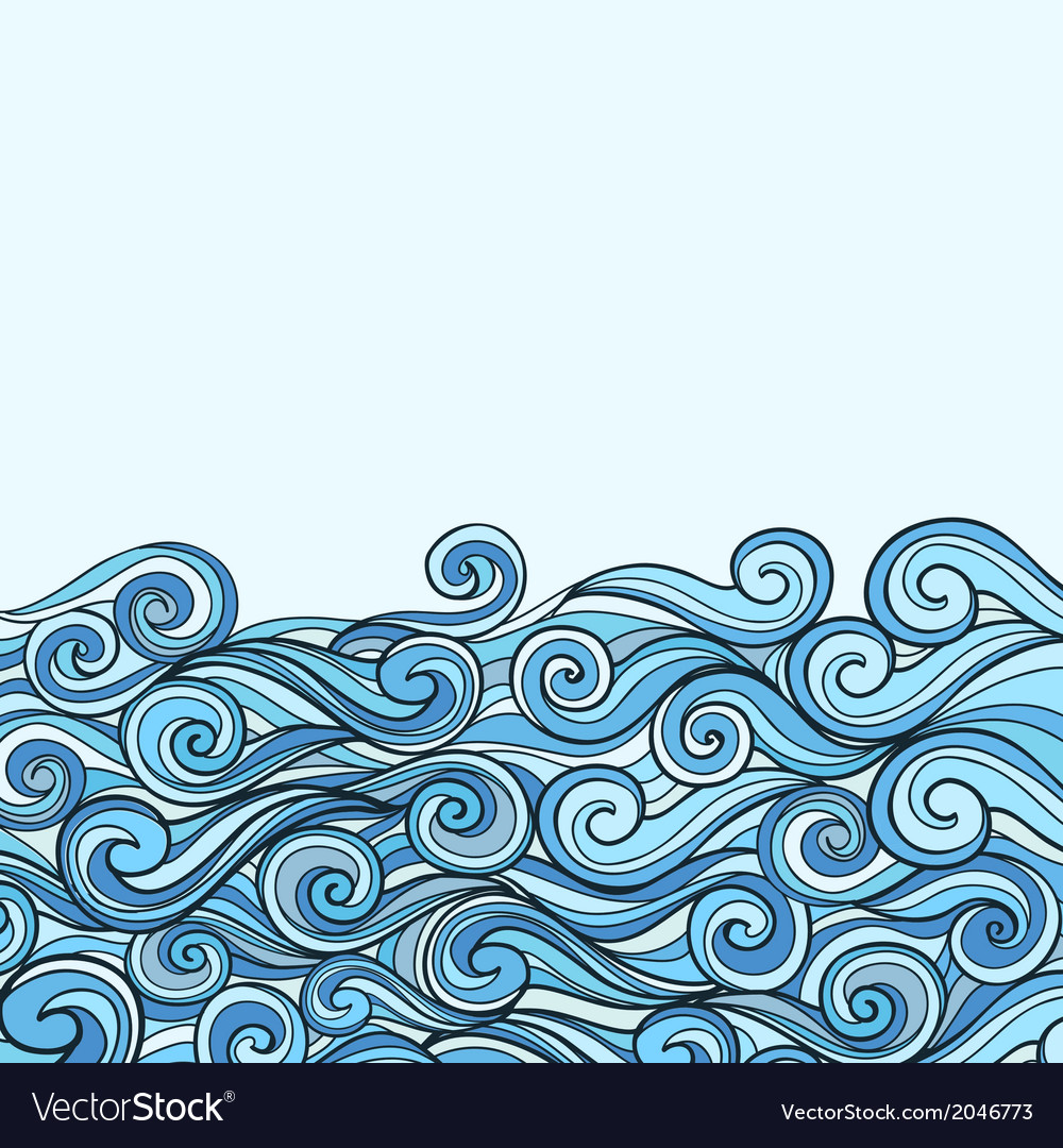 Blue sea wave background vector | Price: 1 Credit (USD $1)