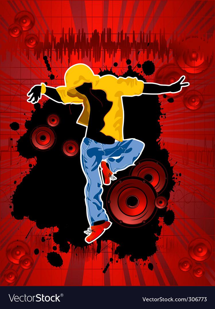 Disco club poster vector | Price: 1 Credit (USD $1)
