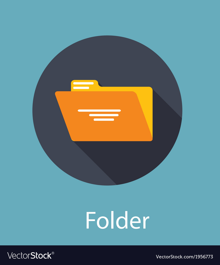 Folder flat icon concept vector | Price: 1 Credit (USD $1)