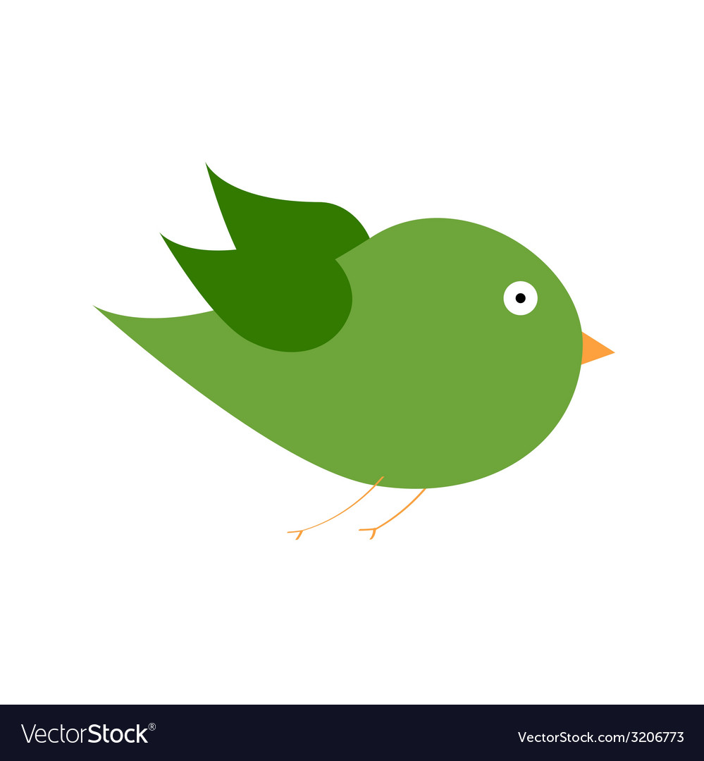Green bird color art vector | Price: 1 Credit (USD $1)