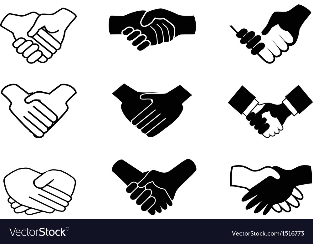 Handshake icons vector | Price: 1 Credit (USD $1)
