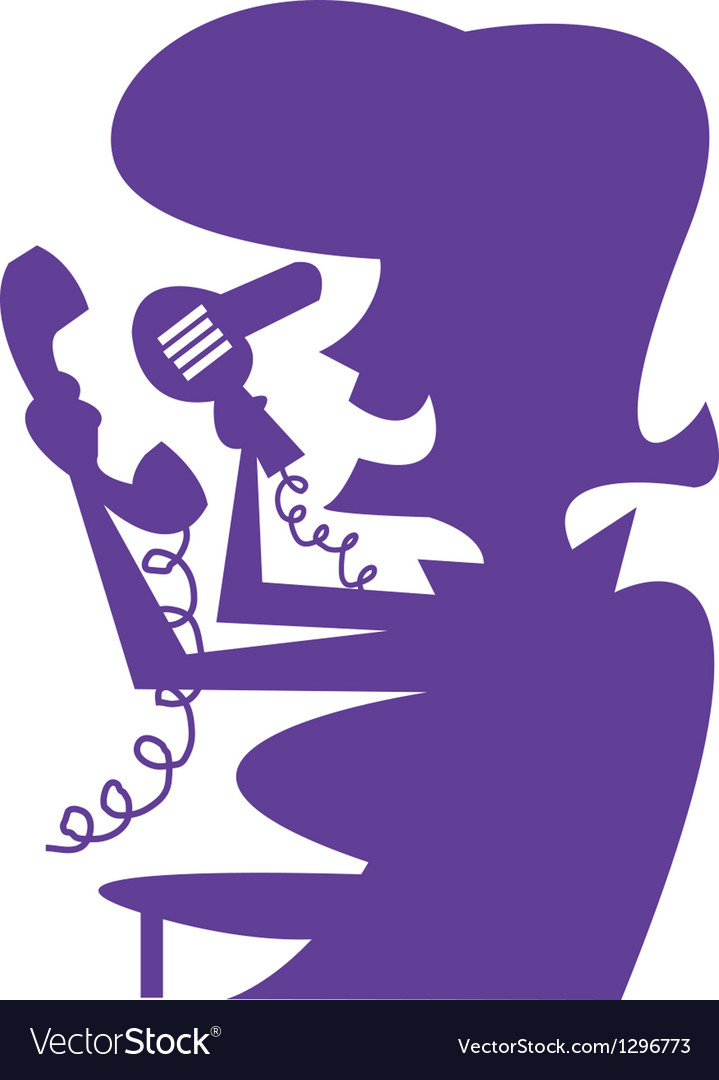 Lady with hairdryer silhouette vector | Price: 1 Credit (USD $1)