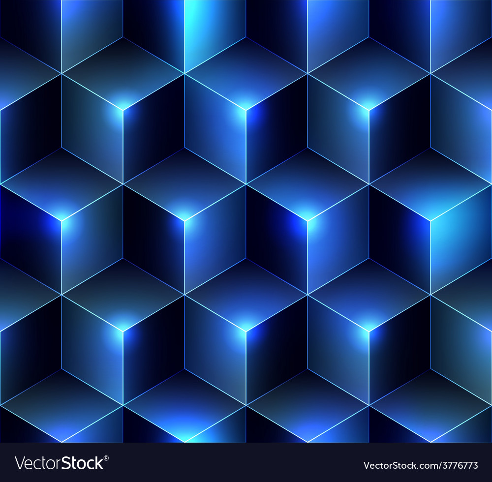 Navy blue cubes background vector | Price: 1 Credit (USD $1)