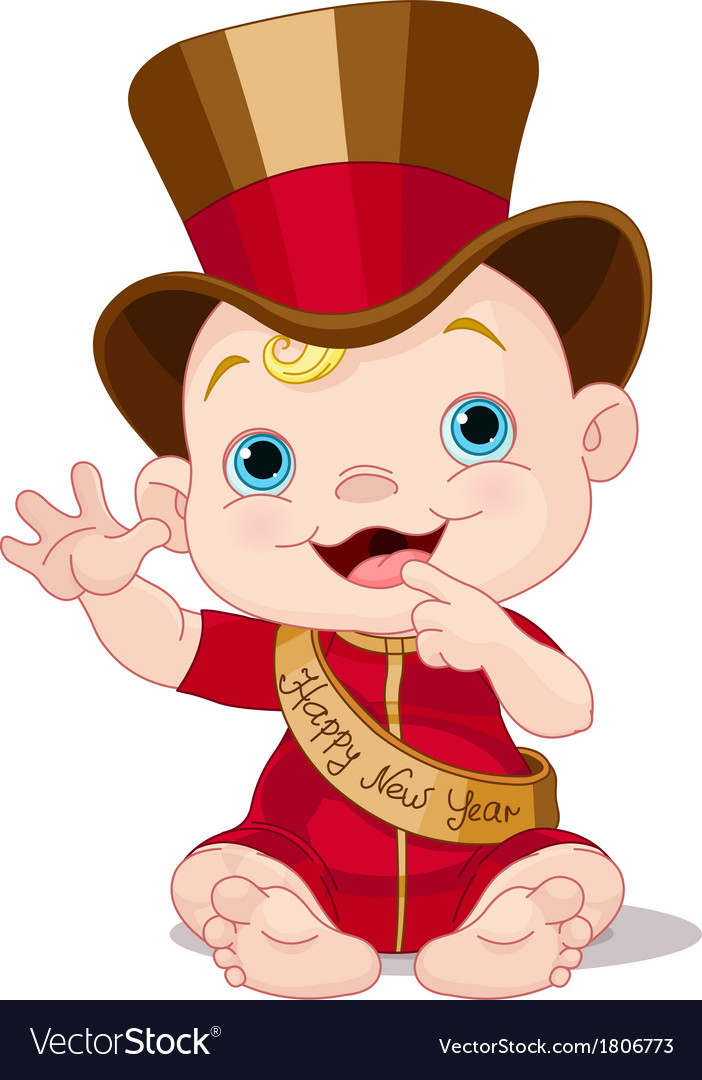 New year baby vector | Price: 1 Credit (USD $1)