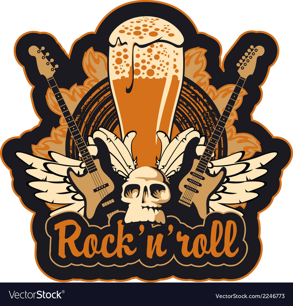Rock n toll and beer vector | Price: 3 Credit (USD $3)