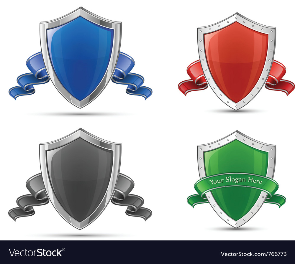 Shields and ribbons vector | Price: 3 Credit (USD $3)