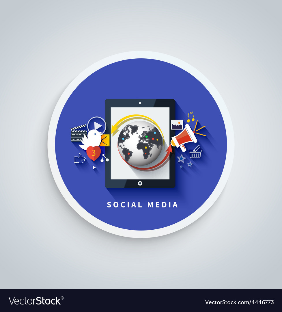 Social media concept cloud of application icons vector | Price: 1 Credit (USD $1)