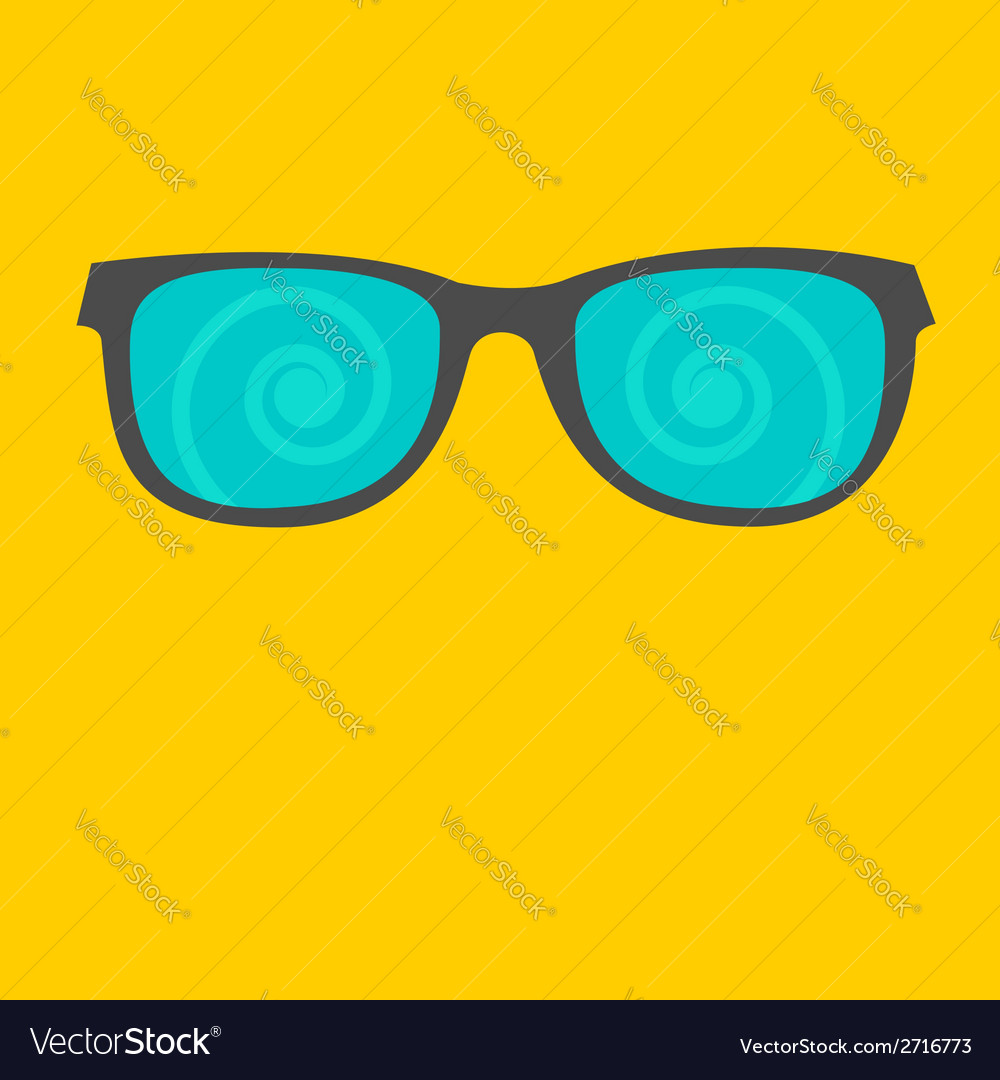 Sunglasses with spiral glasses flat design style vector | Price: 1 Credit (USD $1)