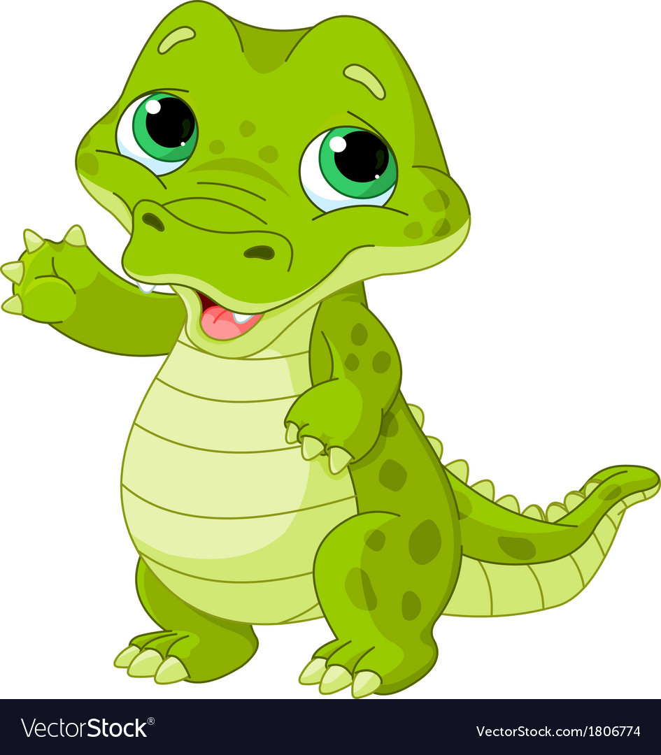 Baby alligator vector | Price: 1 Credit (USD $1)