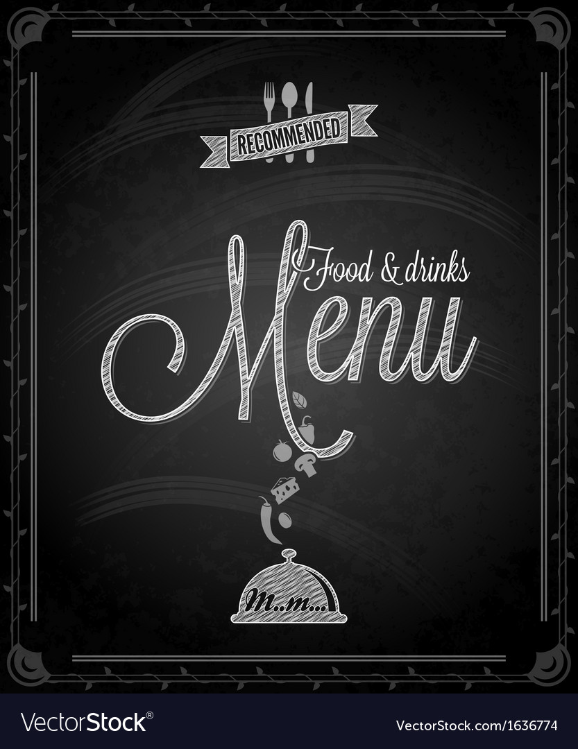 Chalkboard menu vector | Price: 1 Credit (USD $1)