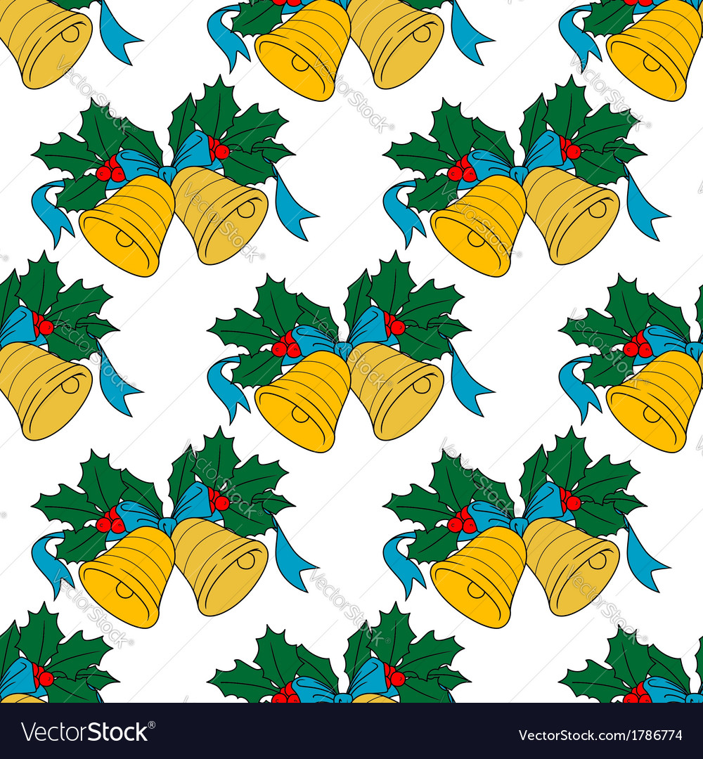 Christmas bell seamless pattern vector | Price: 1 Credit (USD $1)