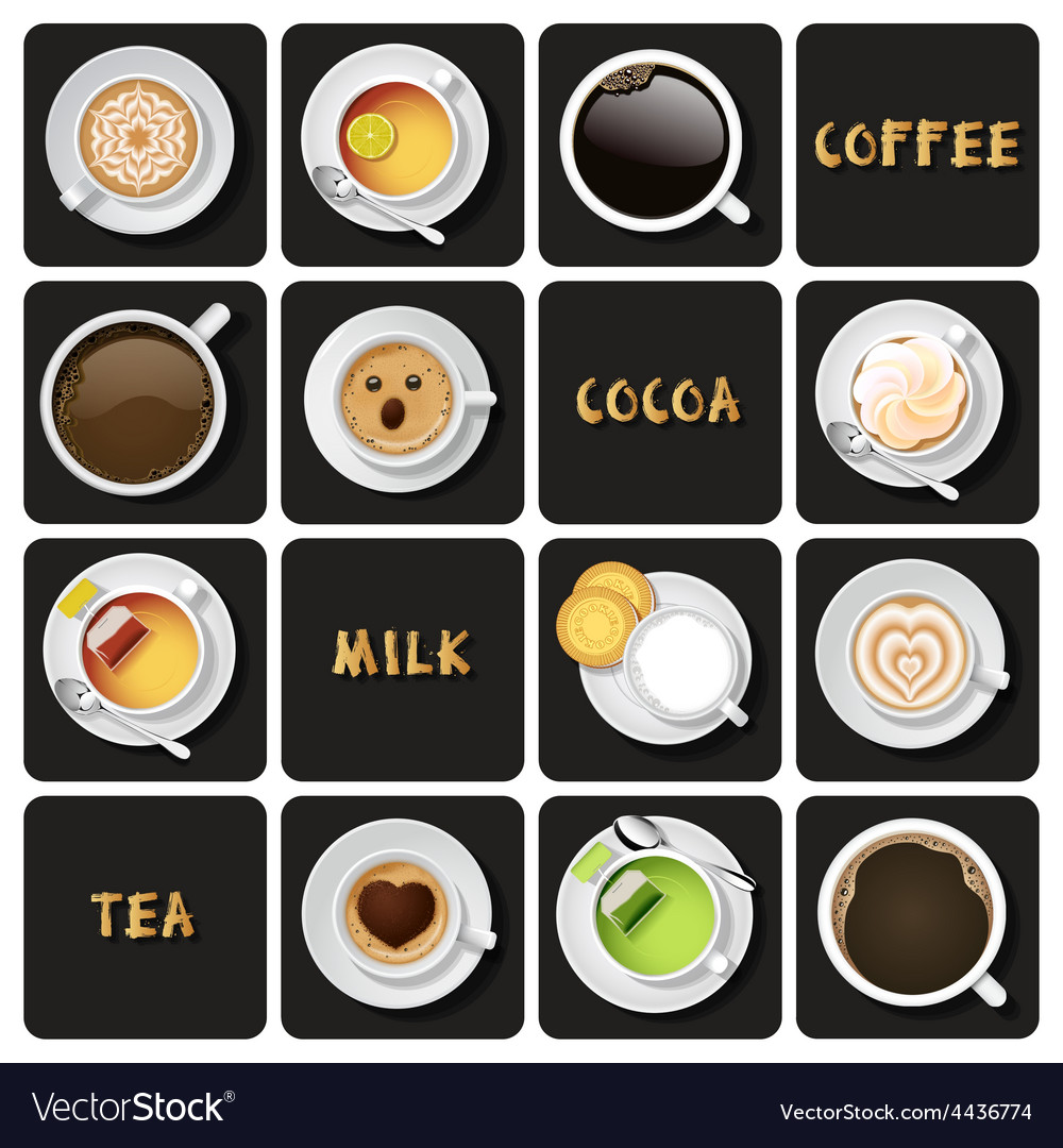Collection of beverage vector | Price: 1 Credit (USD $1)