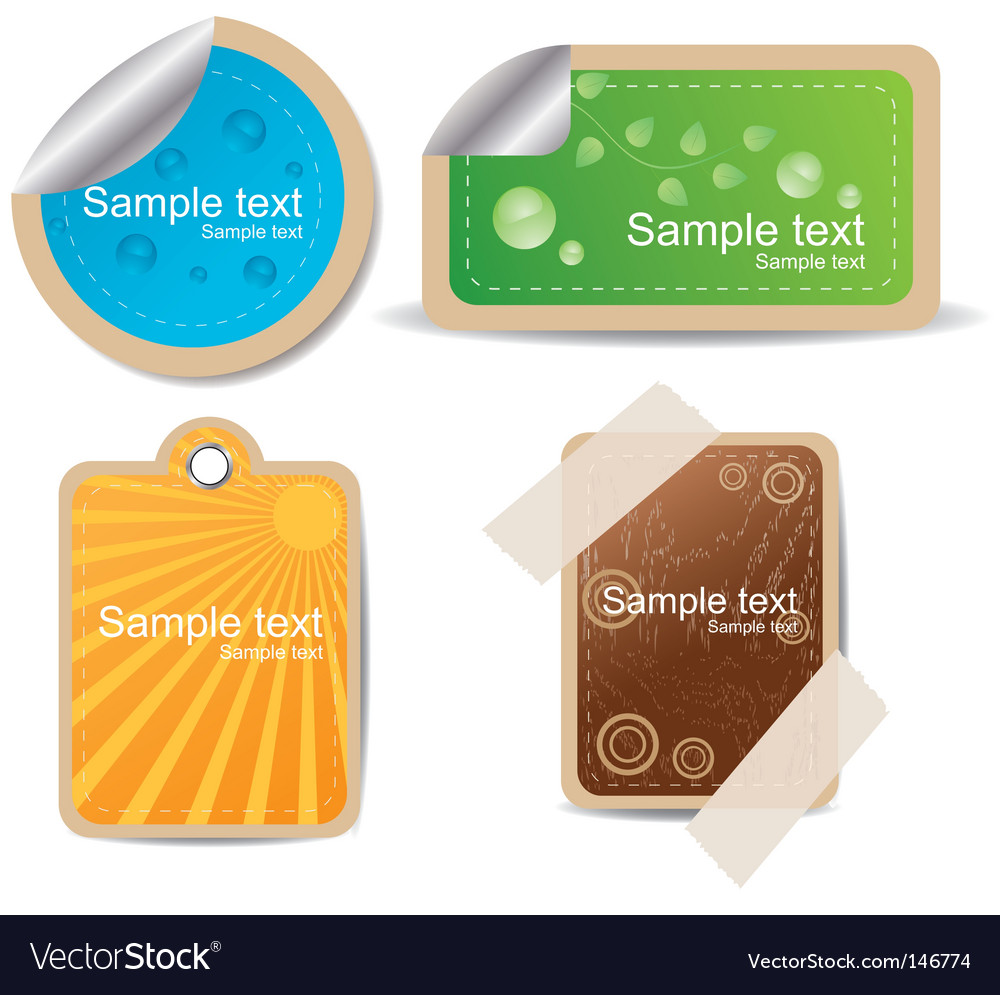 Four stickers vector   Price: 1 Credit (USD $1)