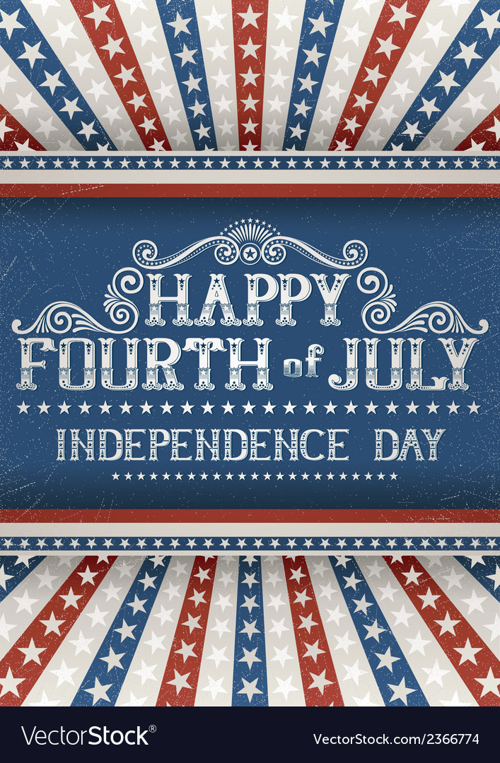 Fourth of july greeting card vector | Price: 1 Credit (USD $1)