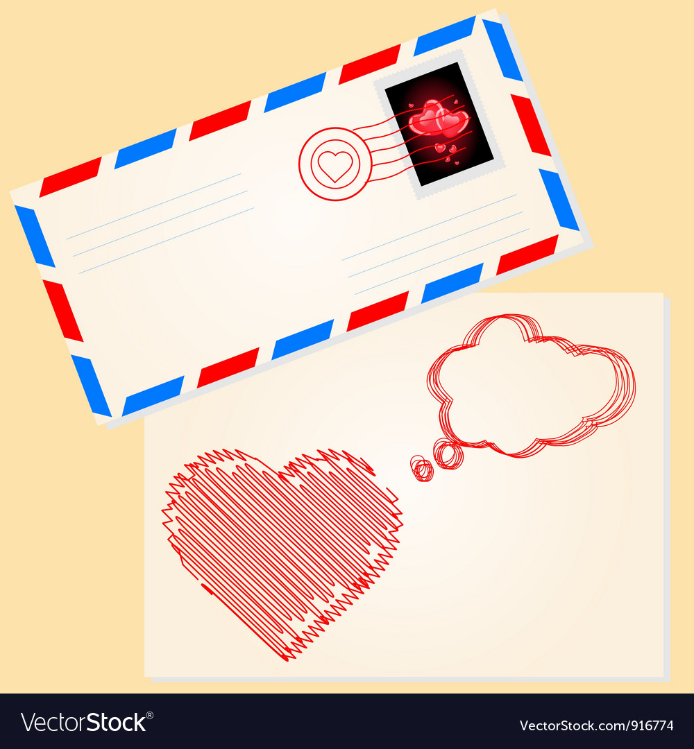 Love letter for valentines day vector | Price: 1 Credit (USD $1)