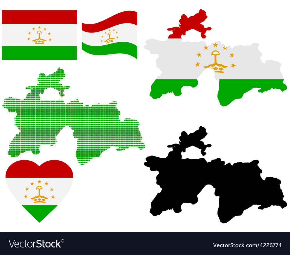 Map of tajikistan vector | Price: 1 Credit (USD $1)