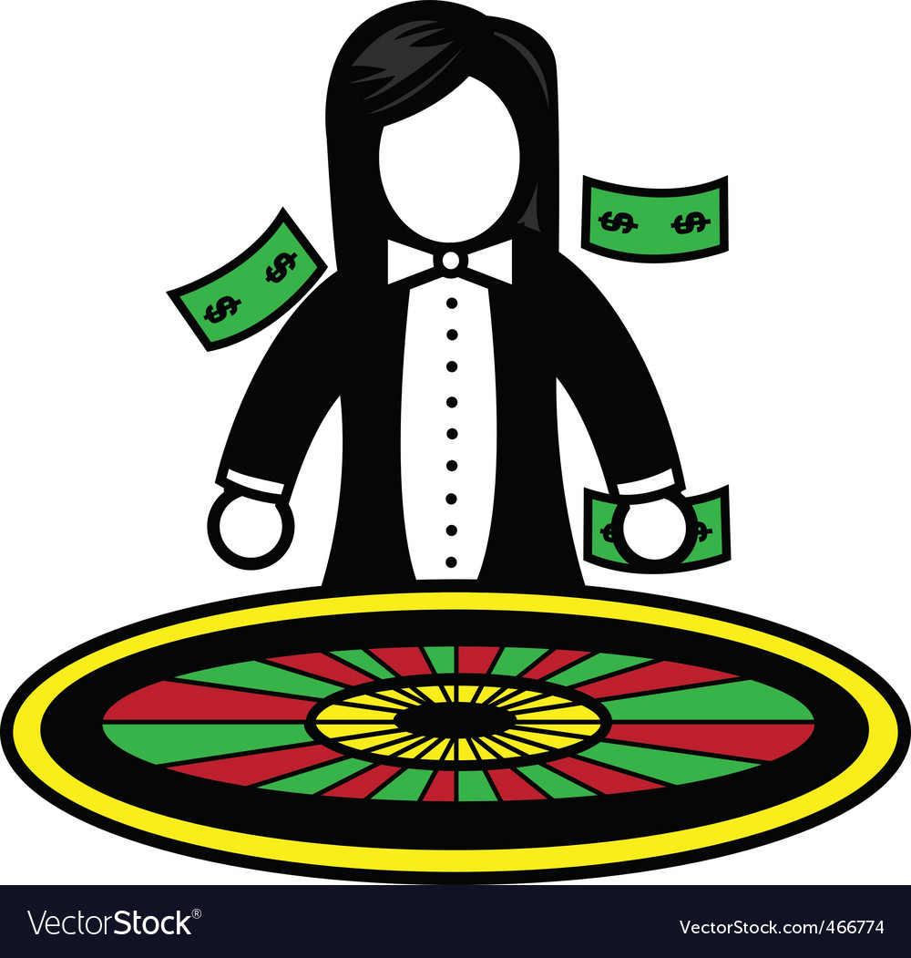 Roulette dealer vector | Price: 1 Credit (USD $1)