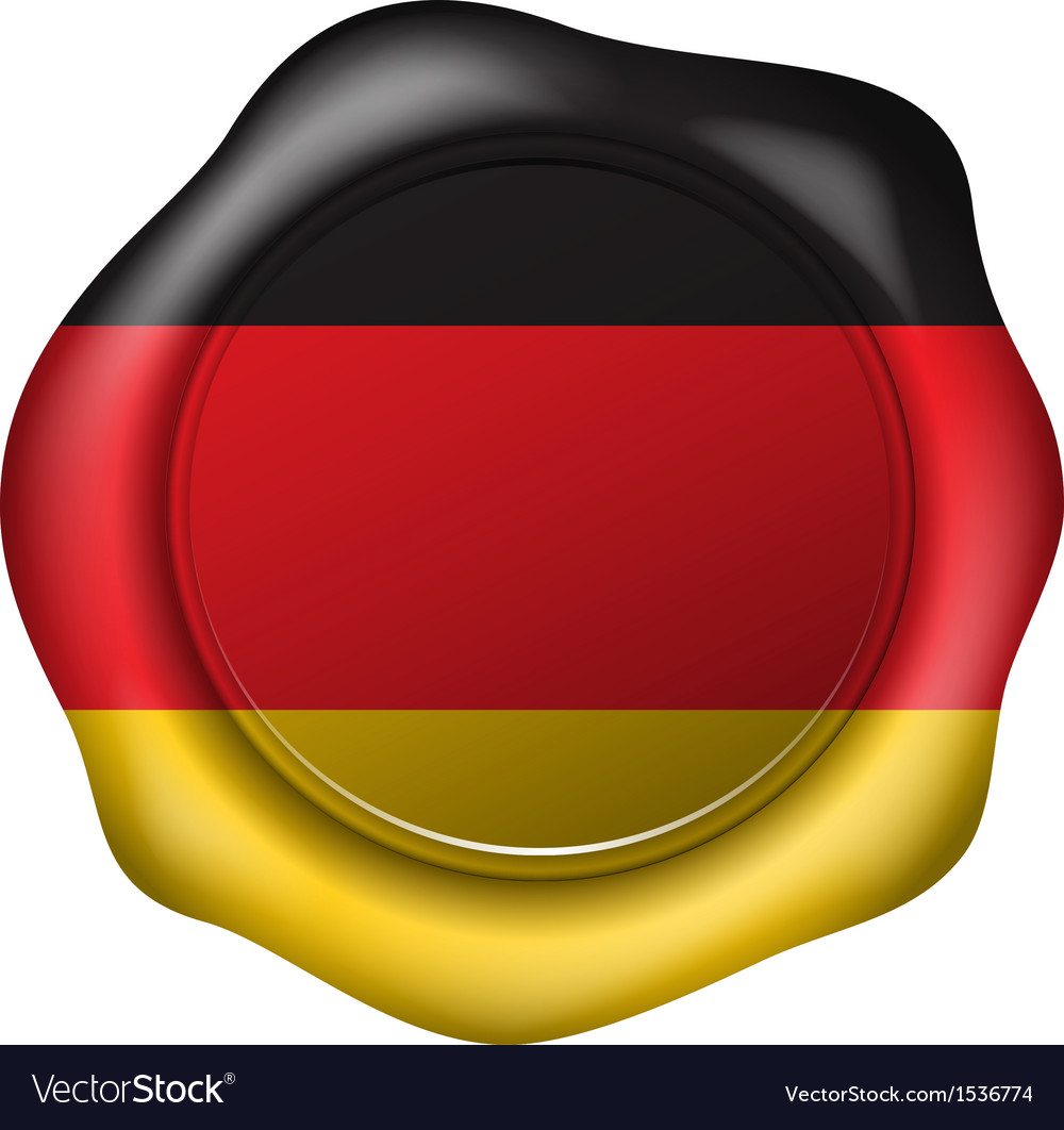 Wax seal with the germany flag vector | Price: 1 Credit (USD $1)