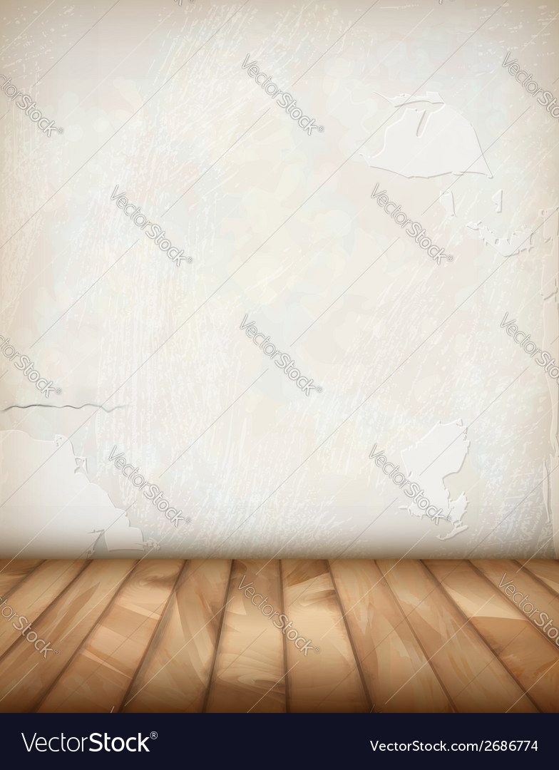 White plaster wall wood floor vector | Price: 1 Credit (USD $1)