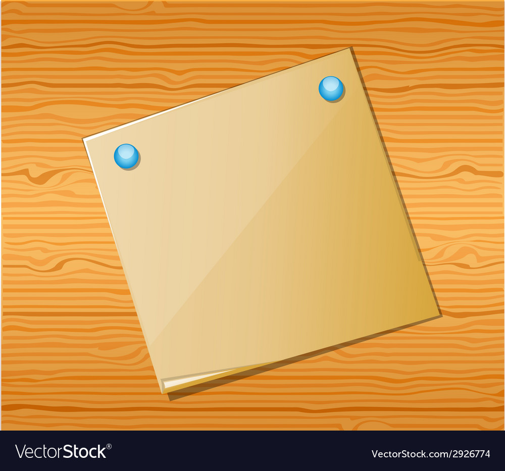Wood texture with paper vector   Price: 1 Credit (USD $1)