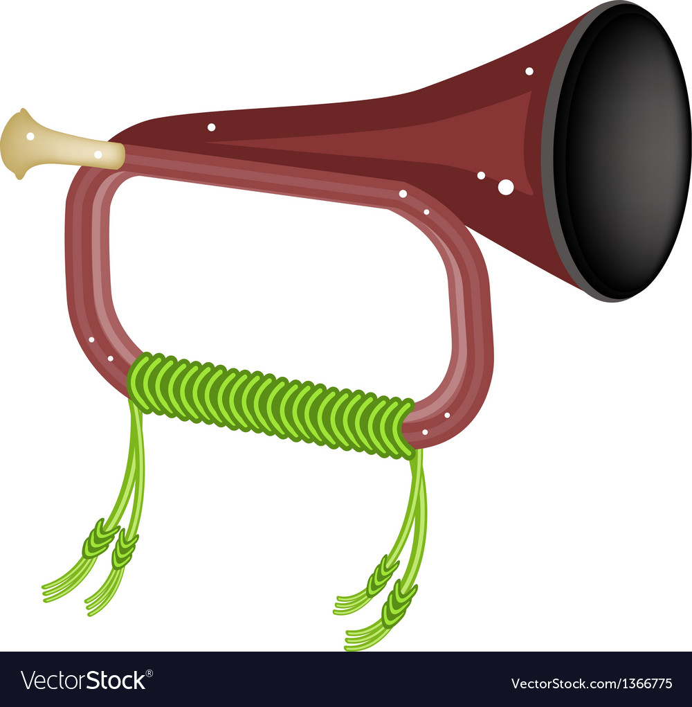 A musical bugle isolated on white background vector | Price: 1 Credit (USD $1)