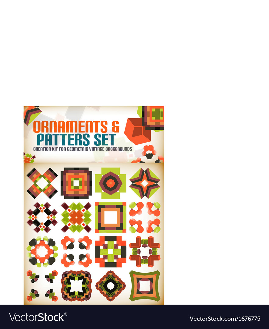 Abstract geometric vintage retro shapes for vector   Price: 1 Credit (USD $1)