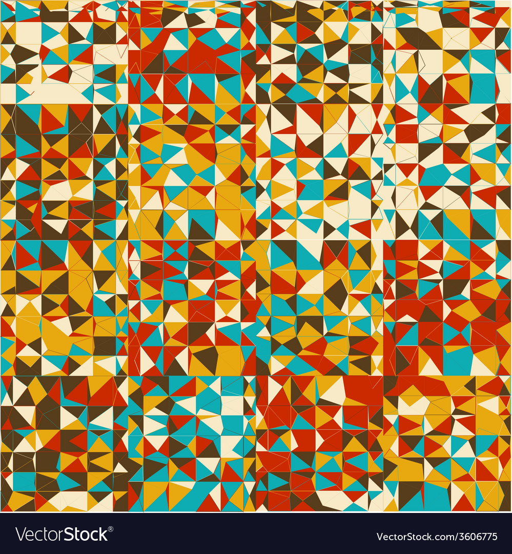 Abstract geometrical multicolored mosaic vector | Price: 1 Credit (USD $1)