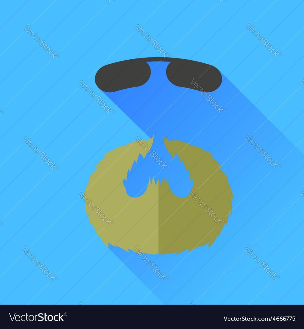 Beard and sunglasses vector | Price: 1 Credit (USD $1)
