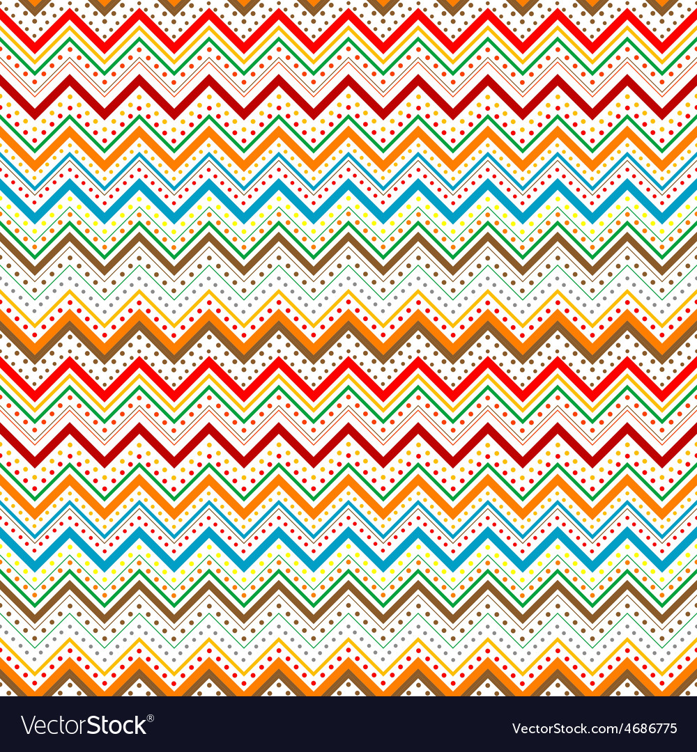 Dots and zig zag lines background vector | Price: 1 Credit (USD $1)